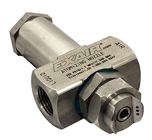 EXAIR EF6010SS No Drip Atomizing Nozzle, 303 GPH Maximum Flow Rate, 1,147 LPH Max, 1/2 NPT Female by EXAIR Corporation