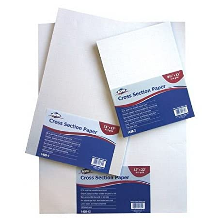 8-1//2 x 11 1420-2 Alvin Cross Section Paper 4x4 Grid 100-Sheet Pack