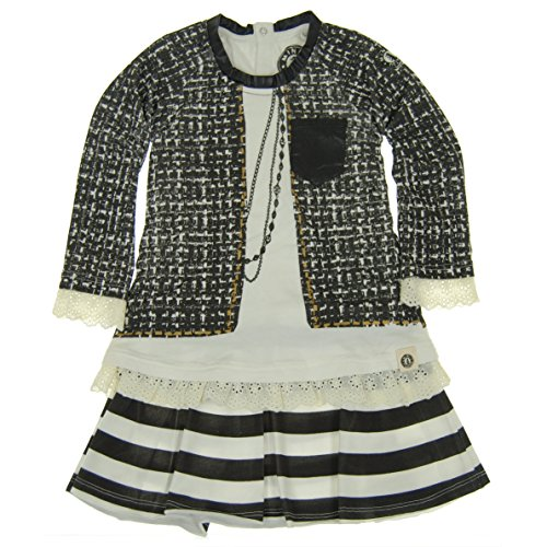 Mini Shatsu Little Girls' Vintage Tweed Jacket Dress (4T) Tweed Mini Dress