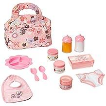 Melissa & Doug Doll Feeding and Changing Accessories - Bib, Bag, Diaper, Wipes, Utensils, Bottles