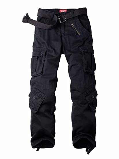 a53d573ff77 MUST WAY Men's Cargo Regular Trouser Army Combat Work Trouser Workwear Pants  with 8 Pocket 3357C