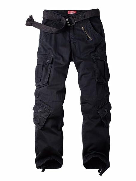 8dda825b34b4a MUST WAY Men s Cargo Regular Trouser Army Combat Work Trouser Workwear Pants  with 8 Pocket 3357C
