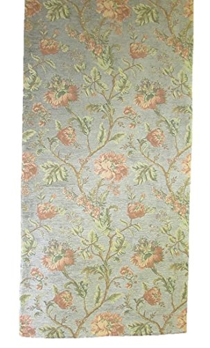 Corona Decor Extra-Wide Italian Woven Floral Table Runner, 95 by 26-Inch, Orange by Corona Decor Co.