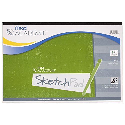 - Mead Académie Sketchbook / Sketch Pad, 50 Sheets, 18 x 12 Inch Sheet Size (54016)