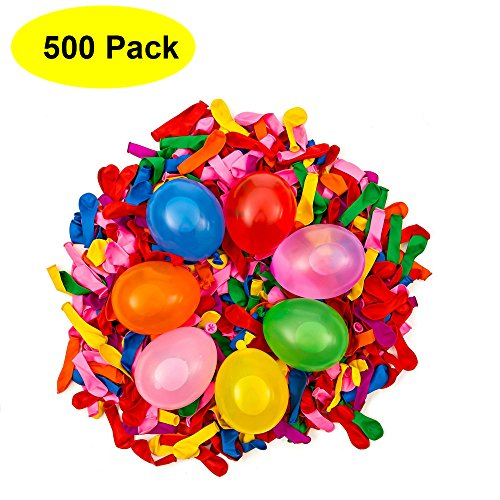 Mydio 500 Pack Water Balloons in 7 Vibrant Colors Water Sports Water Balloon Create Your Own Balloon -