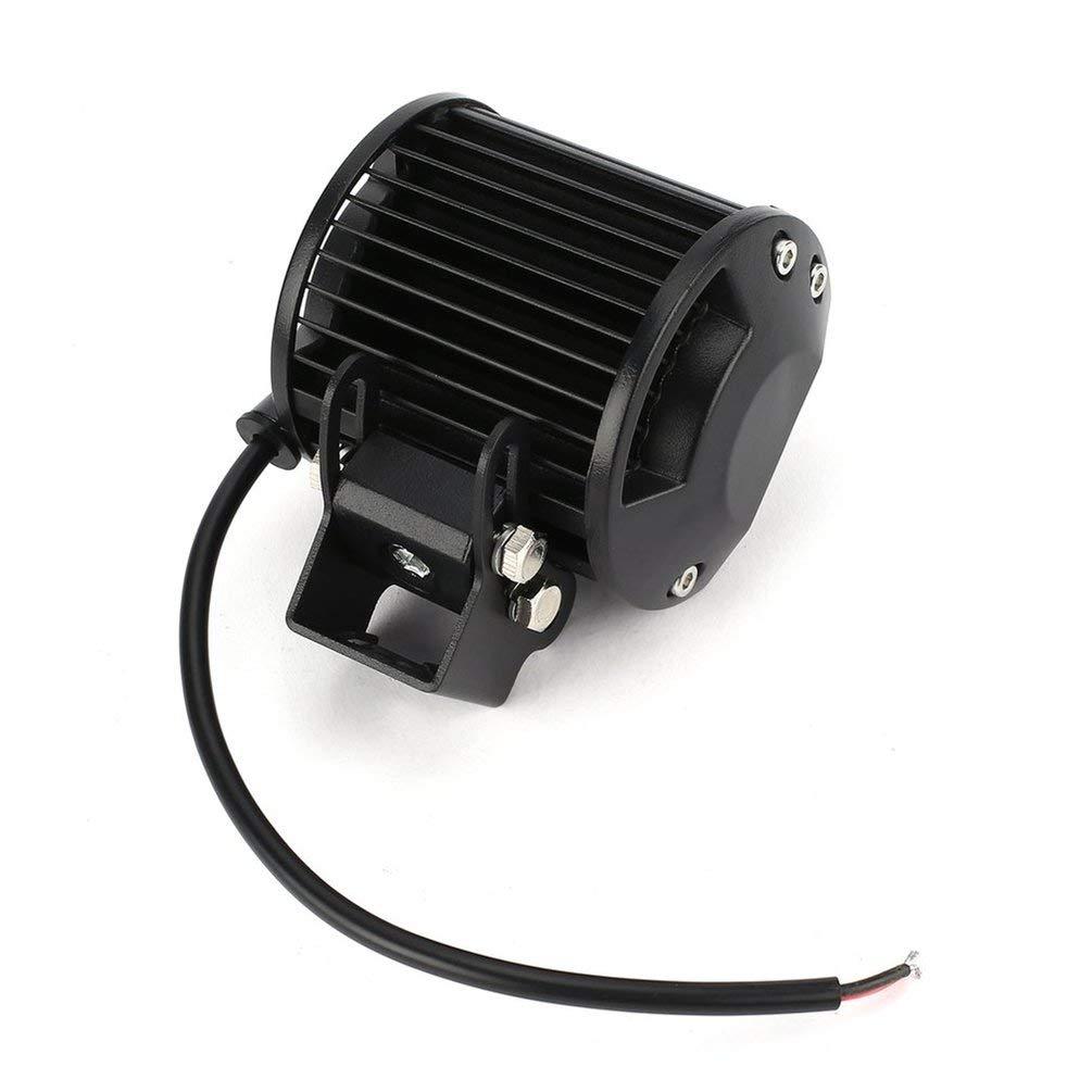 3W a LED per veicolo 12V Nero Lampada da lavoro a LED universale da 27W con faro da lavoro a forma cilindrica Lampada da lavoro a LED cilindrico con 9 LED