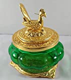 pujacelebrations Toughened Glass Kubera Lakshmi Pot, Standard, Multicolour