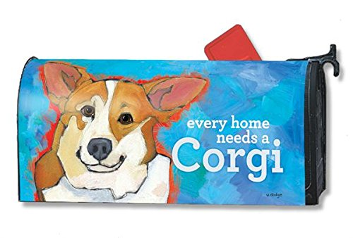 Mailwraps Corgi Dog Magnetic Mailbox Cover