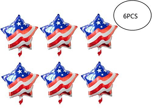 Fourth of July Balloons American-Flag-Patriotic Mylar-Balloons LuftBalloons for Fourth of July, Memorial Day, Independence Day, Labor Day,Election Day And Other Party -