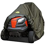 """Waterproof Lawn Mower Cover by Family Accessories - Best Quality, Heavy Duty, Durable, UV and Water Resistant Cover for Your Riding Garden Tractor - Up to 54"""" Decks"""