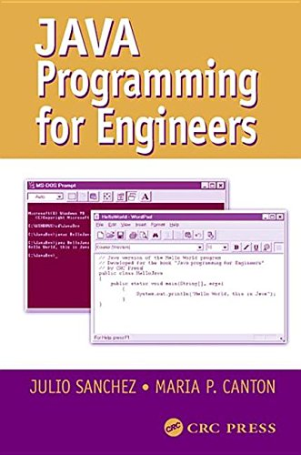 Java Programming for Engineers by CRC Press Inc