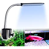 Weksi®Led Aquarium Lighting Fish Tank Aquarium Clip Lamp Light Kit Flexible Button Switch 24led 3 Mode 1.5w White Blue +3pcs Free Aquarium Jellyfish(Green Blue Pink)