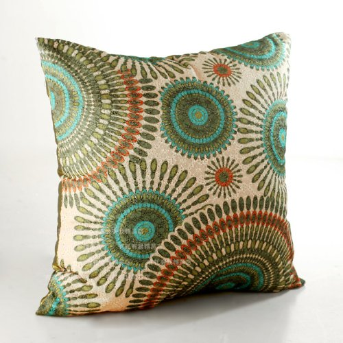 Amazoncom ElleWeiDeco Openwork Embroidery Turquoise Throw Pillow