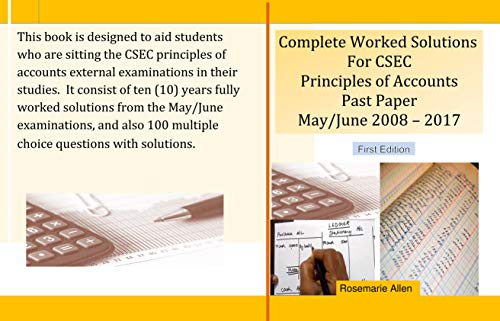 Complete Worked Solutions For CSEC Principles Of