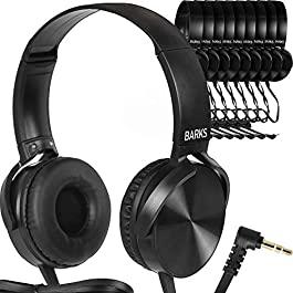 Bulk Classroom Headphones (10 Pack) – On-Ear Premium Student Headsets: Perfect for Kids K-12 in Classrooms, Schools…