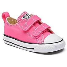 Converse Infant/Toddler's Chuck Taylor All Star 2V Low Top Fashion Shoe Pink Pow/Natural/White