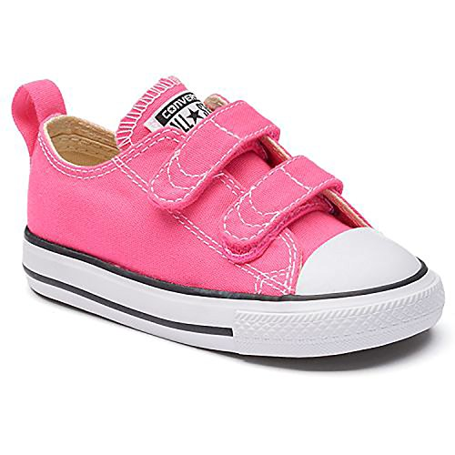 Converse Infant/Toddler's Chuck Taylor All Star 2V Low Top Fashion Shoe Pink Pow/Natural/White 5C (Converse Toddler Shoes)