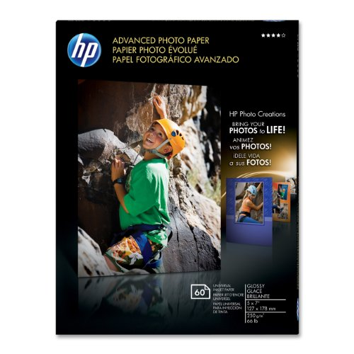 HP Advanced Photo Paper, Glossy (60 Sheets, 5 x 7 Inch) Advanced Photo