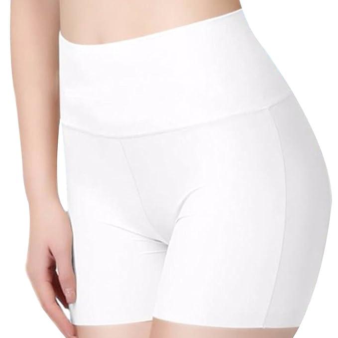 Chen Rui TM Pantalones de Seguridad Blancos Volantes sin Costuras ...