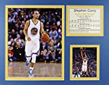 Steph Curry - White 11'' x 14'' Unframed Matted Photo Collage by Legends Never Die, Inc.