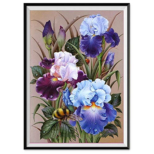 (BeautyShe [Flower] 8D Diamond Painting Kits for Adults Full Drill Diamond Embroidery Home Wall Decor)
