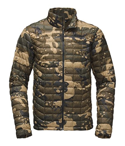 - The North Face Men's Thermoball Jacket Burnt Olive Green Woodchip Camo Print Outerwear