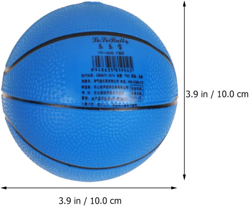 TOYANDONA 4 Inch Basketball with Inflation Pump Elastic Bouncy Ball Mini Basketball Sports Ball for Children Outdoor Indoor Blue