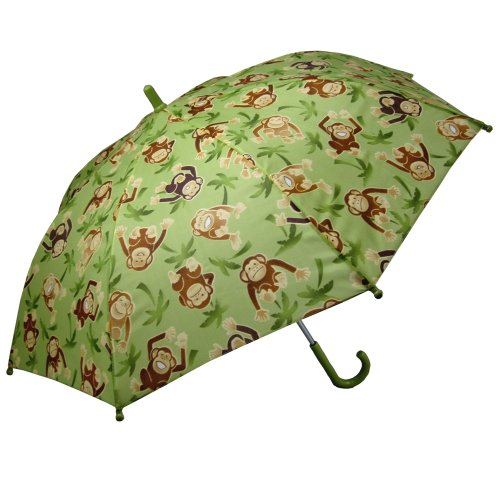 RainStoppers Boy's Monkey Print Umbrella, 34-Inch