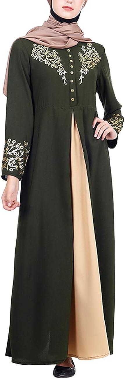 Elegante Largo /Árabe Kaftan Vestido Largo Ropa Dubai Cardigan Blusa Jalabiya Maxi Vestido Boho T/única Disfraz besbomig Vestido de Mujer Musulm/án Isl/ámicas Abaya