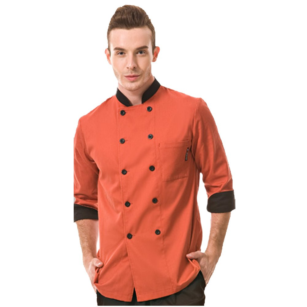 Cheflife colored chef uniforms long sleeve coat for women