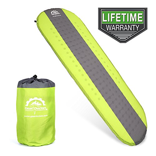 Gear Doctors Self Inflating Sleeping Pad Ultra Lightweight Foam Filling 1.5 inch Thick Mat Perfect...