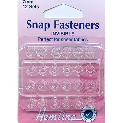 - Sew On Snap Fasteners 7mm Invisible