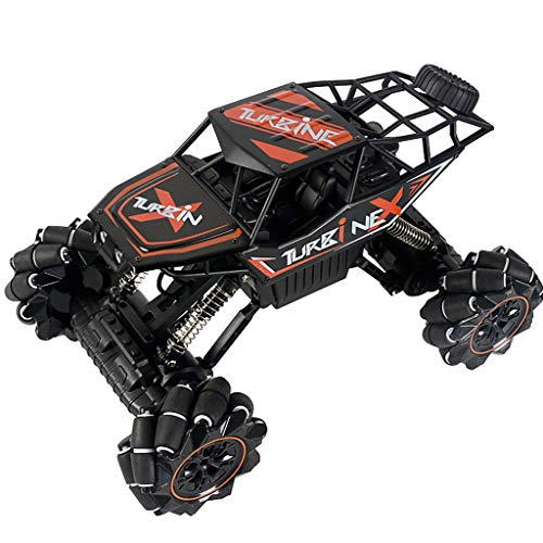 Jinjin 1:12 2.4G Remote Control Off-Road Vehicle Truck High Speed RTR Buggy RC Car with Music Light Drift Four-Wheel Drive Stunt Remote Climbing Car Toy Electric Model Toy Car (Red)