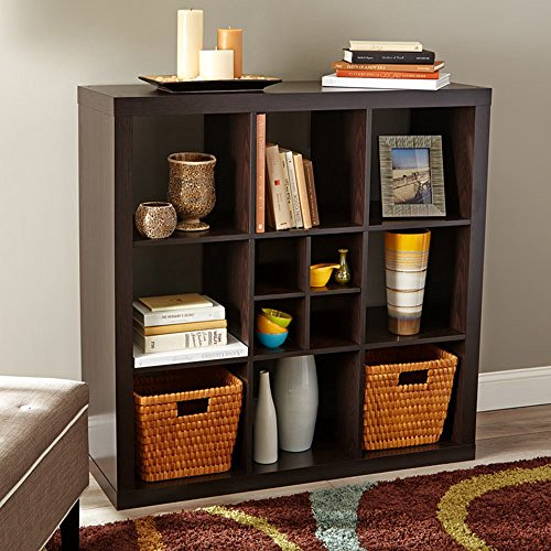 Better Homes and Gardens 9-Cube Versatile Organizer Storage Bookcase (Espresso) (Better And Homes Home Fabrics Gardens Decor)