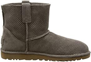 03800febf8d UGG Women's Classic Unlined Mini Perforated Spring Boot, Mole, 5 US ...
