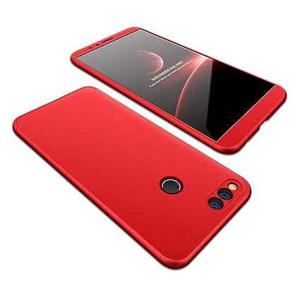 JMGoodstore Funda Compatible Xiaomi Redmi 6,Carcasa Redmi 6,360 Grados Integral Ambas Caras+Cristal Templado,3 in 1 Slim Dactilares Protectora Skin ...