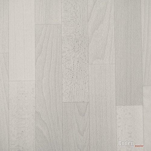 PVC Bodenbelag Holz Planken Weiß Breite 4 m (9,95 € p. m²)