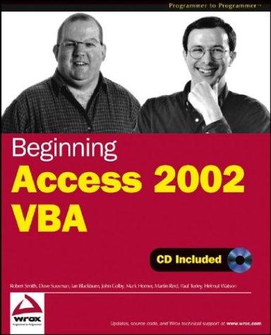 Beginning Access 2002 VBA by Brand: Wrox
