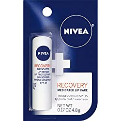 NIVEA Recovery Medicated Lip Care SPF 15 0.17 Carded Pack (Pack of 6)