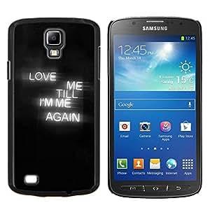 """Be-Star Único Patrón Plástico Duro Fundas Cover Cubre Hard Case Cover Para Samsung i9295 Galaxy S4 Active / i537 (NOT S4) ( El amor muestra de neón Corazón Negro Niebla texto"""" )"""