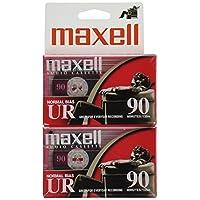 Maxell 108527 Paquetes planos de diseño óptimo con superficie de bajo ruido Tiempo de grabación de 90 minutos por casete