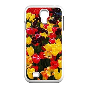 Samsung Galaxy S4 Cases Colorful Tulips 6, Tulip [White]