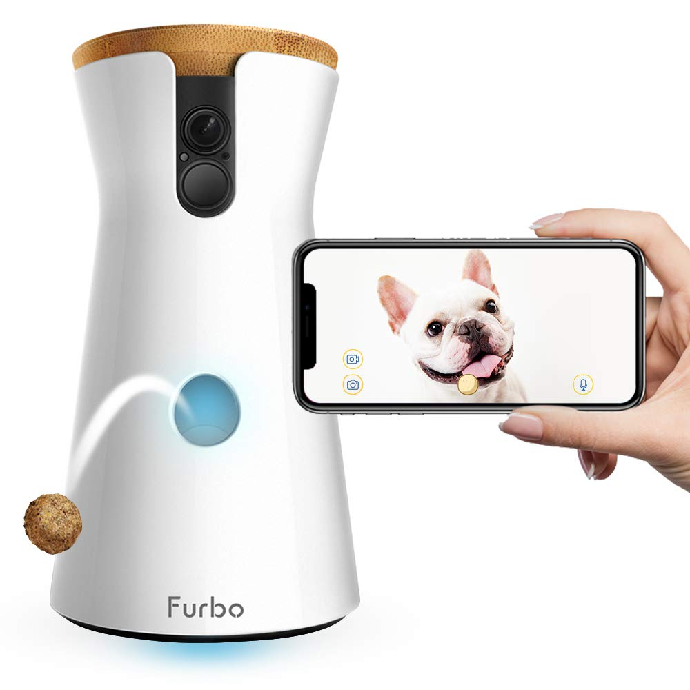 Furbo Dog Camera: Treat Tossing, Full HD Wifi Pet Camera and 2-Way Audio, Designed for Dogs, Compatible with Alexa (As Seen On Ellen) by Furbo