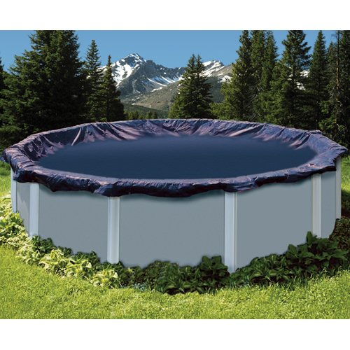 Swimline 30 Foot Heavy Duty Deluxe Round Above Ground Winter Swimming Pool ()