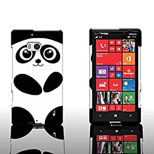 CoverON® Hard Slim Design Case for Nokia Lumia 929 - with Cover Removal Pry Tool - Black White Panda