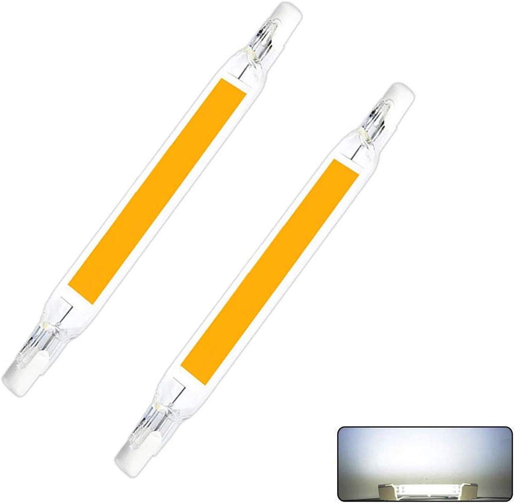 2 Piezas Bombillas LED R7S, ABEDOE 10W / 118mm 230V LED Reemplace la Lámpara Halógena,Bulbo de Lámpara de Mazorca, Blanco Frío