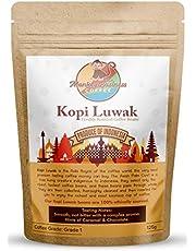 Monkey Business Coffee - Café Wild Kopi Luwak - Origine Durable (D'indonésie) - Grains Entiers Et Moulu De Différents Poids Disponible