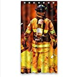Best Seller Curtain-Firemen And Fire Design Fire Department Custom 100% Polyester Waterproof Shower Curtain 36 x 72