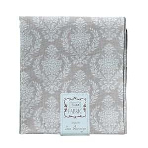 Tilda - Tela de damasco (50 x 55 cm, color gris)