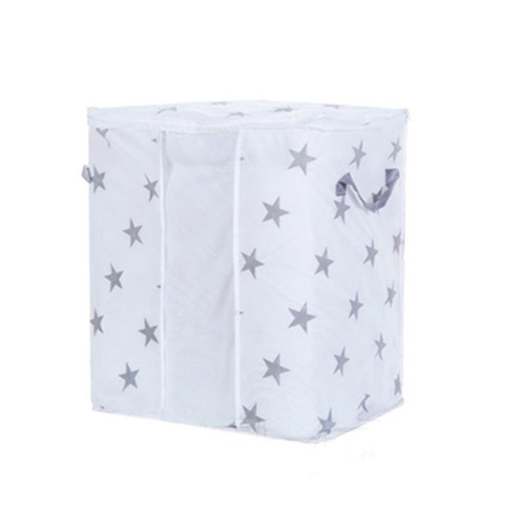 Storage Bag, Staron Large Foldable Storage Bag for Beddings, Comforters, Quilt, Blanket, Pillows, Garments, Sweaters, Clothes Space Saver Storage Bins Organizer (B)